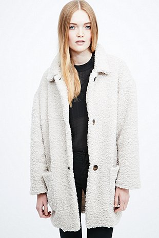 Cooperative Teddy Coat In Neutral Urban Outfitters