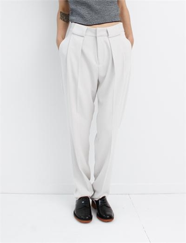 Mm6 By Maison Martin Margiela Fluid Trousers Chalk