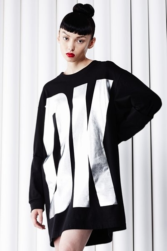 Dkny For Opening Ceremony Dkny Logo Long Sleeve Tee Women Dkny For Opening Ceremony