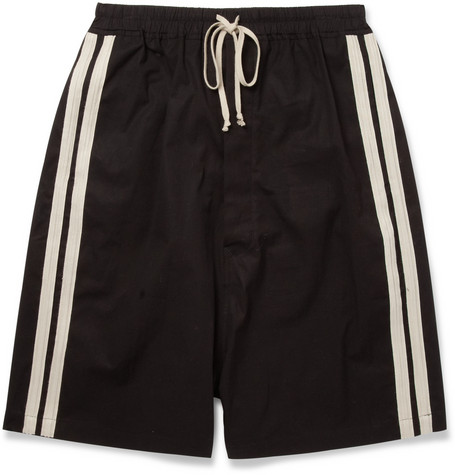 Rick Owens Drop Crotch Cotton Blend Shorts Mr Porter