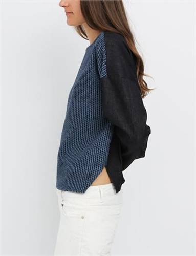Rachel Comey Barter Top Pickstitch Indigo