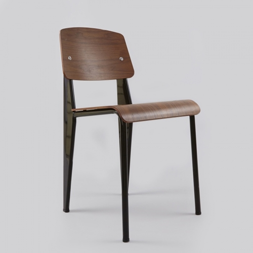 Vitra Standard Sp Chair Walnut Black