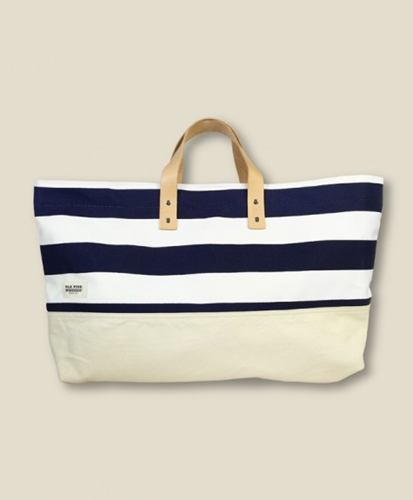 STAG Blk Pine Workshop Striped Tote BAGS