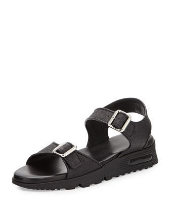 Givenchy Buckled Double Strap Sandal