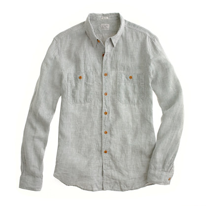 Slim linen utility shirt shirts Men s new arrivals J Crew