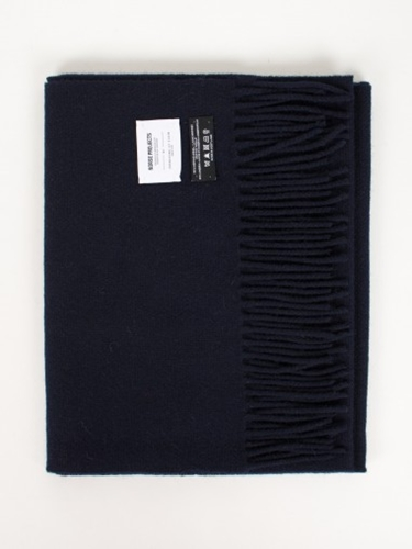 Norse Projects Hope Sack Scarf Norse X Johnstons Dark Navy Antic Boutik