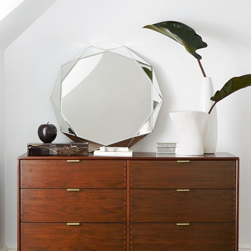 Faceted Mirror Large West Elm