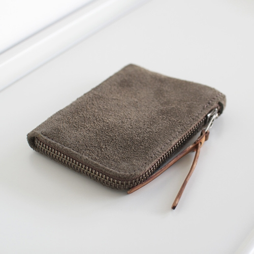 Zip Slim Wallet In Walnut Utica By Makr Carry Goods Oen Shop