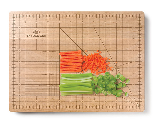 OCD CUTTING BOARD Ruler Grid Wood Cutting Board UncommonGoods