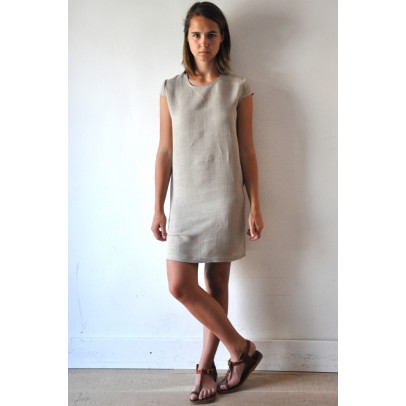 Short Sleeves Dress Natural Fabric