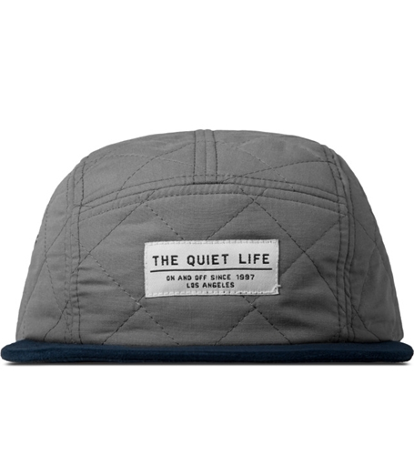 The Quiet Life Grey Quilted 5 Panel Cap Hypebeast Store. Shop Online For Men's Fashion Streetwear Sneakers Accessories