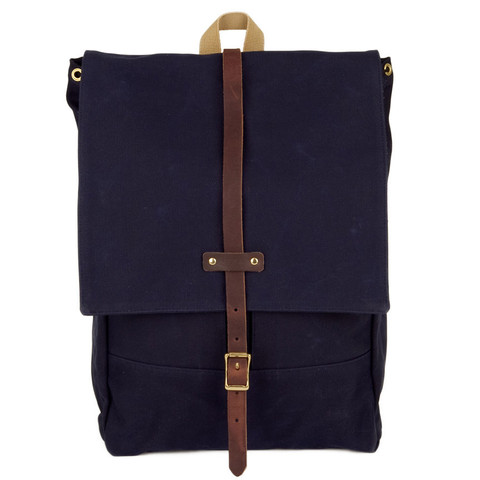 Rucksack Navy Waxed Archival Clothing