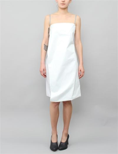 Mm6 By Maison Martin Margiela Cami Flap Dress Glacier