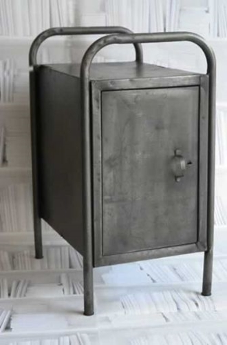 Vintage Metal Cabinet Bedside Table
