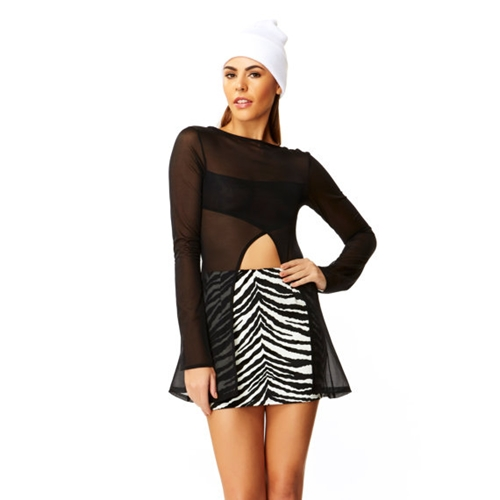 Faux Real Black White Zebra Fur High By Americandeadstock