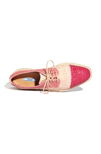 Prada Woven Leather Platform Oxford Nordstrom
