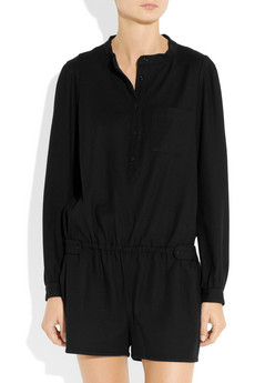 Vanessa Bruno Athe Long sleeved jersey playsuit NET A PORTER COM