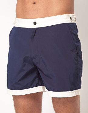 ASOS ASOS Swim Shorts With Contrast Waistband And Hems at ASOS