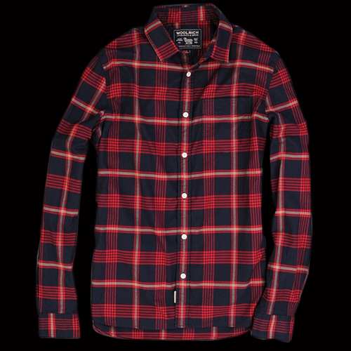 UNIONMADE Woolrich John Rich Bros Hopsack William Shirt in Blanket Red