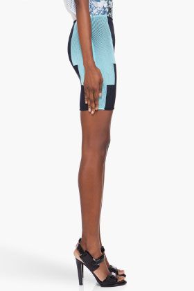 Alexander Wang Navy Aqua Engineered Miniskirt for women SSENSE