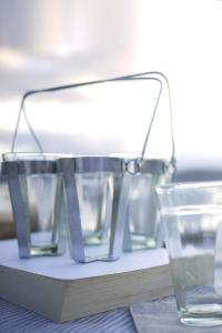 Antibes Glasses and Caddy Remodelista