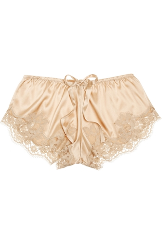 Lace Trimmed Stretch Silk Satin Shorts The Outnet