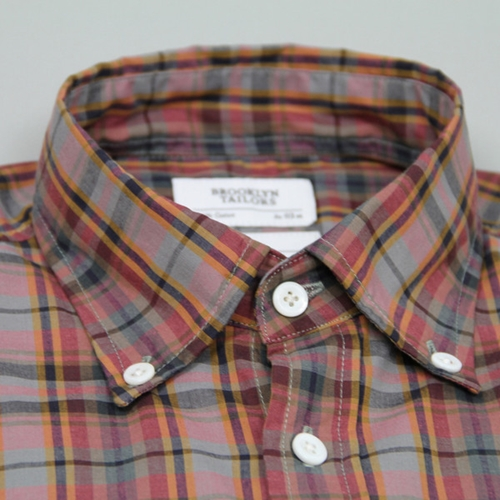 Brooklyn Tailors Custom Plaid Button Down Shirt OEN Shop