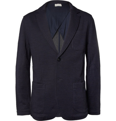 Club Monaco Crinkled Knitted Blazer Mr Porter