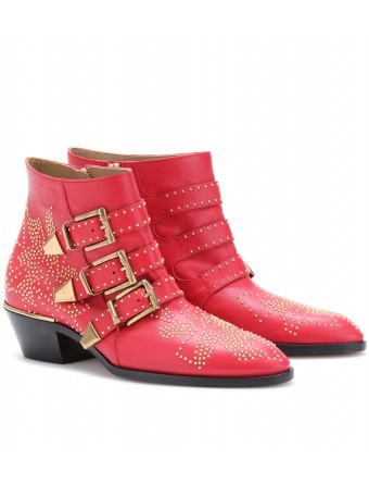 mytheresa com Chloe SUSANNA STUDDED BUCKLE BOOTS Luxury Fashion for Women Designer clothing shoes bags