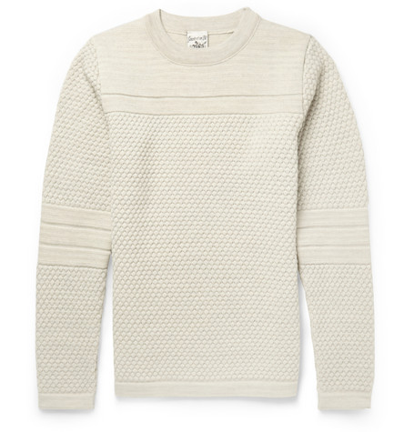 S.N.S. Herning Textured Knit Wool Sweater Mr Porter