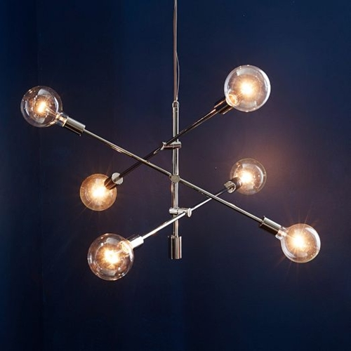 Mobile Chandelier Brushed Nickel West Elm