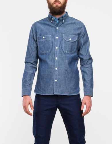 Work Shirt In Raw Chambray