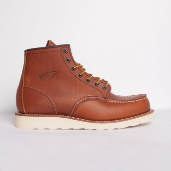 Red Wing Boots Tan 6 Moc Toe Buy Mens Designer Footwear At Denim Geek Online.