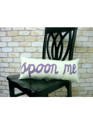 Spoon Me Pillow Purple Only 53.49 Unique Gifts Home Decor Karma Kiss