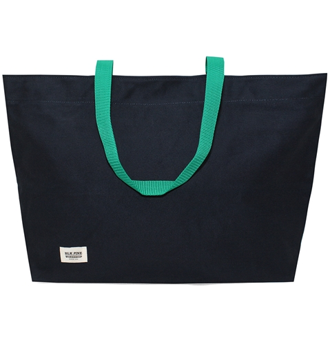 Blk Pine Simple Canvas Tote Bag In Navy Huh. Store