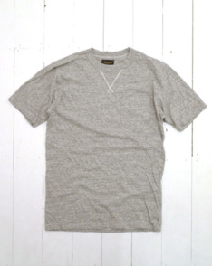Grey Gusset Pocket Tee by National Anthem available to buy at The Bureau Belfast