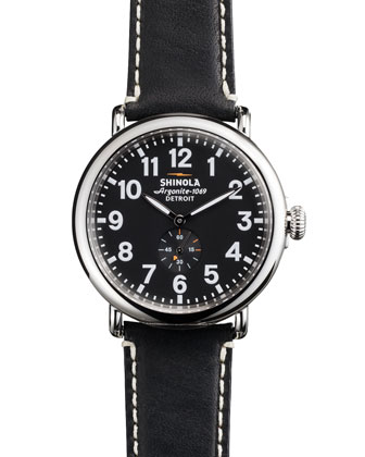 Shinola 47Mm Runwell Men's Watch Black