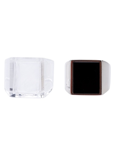Maison Martin Margiela Two Square Faced Rings Bernardelli farfetch com