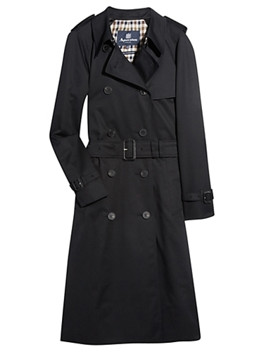 Buy Aquascutum Medlock Rainwear Coat Black online at JohnLewis com John Lewis