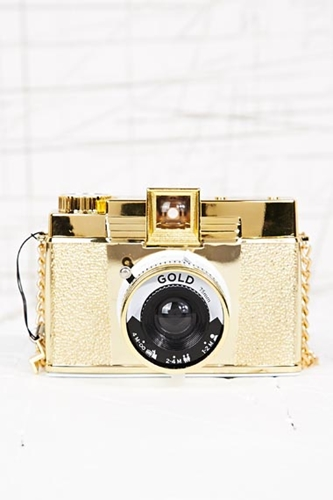 Lomography Diana F Camera In Gold At Urban Outfitters