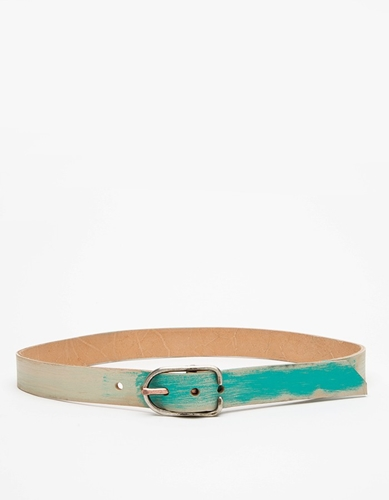 Teal Painted Belt
