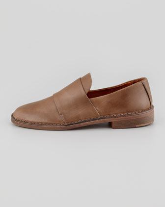 Vince Marcelle Leather Loafer Tan Neiman Marcus