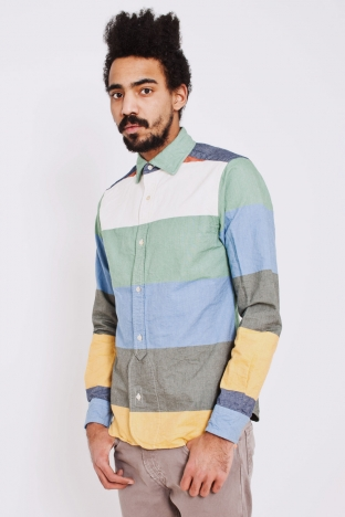 Nigel Cabourn Multi Stripe Oxford Tres Bien Shop