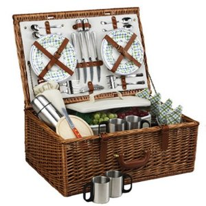 Amazon com Picnic at Ascot Dorset Basket for 4 w coffee service Gazebo Kitchen Dining