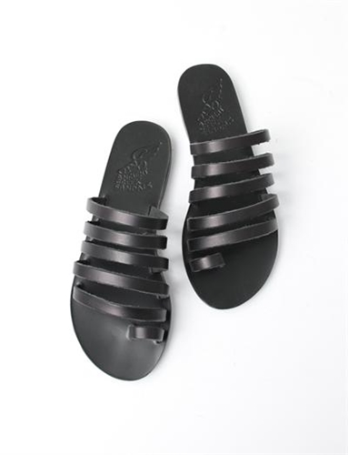 Ancient Greek Sandals Niki Black