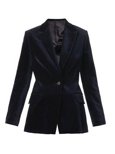 Notch Lapel Velvet Blazer Freda Matchesfashion.Com