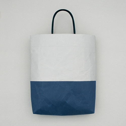 Vertical Bag In Gray Dark Blue Oen Shop