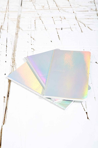 Fashionary Notebooks In Silver Urban Outfitters