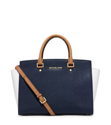 dc540e0d56fb michael kors saffiano and blue and white purse and wallet ebay ...