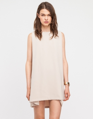Boatneck Open Back Dress